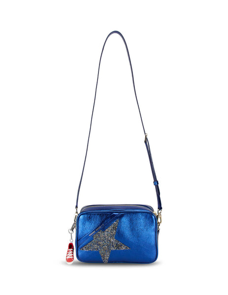 Golden Goose Deluxe Brand Women's Giulio Fashion Blue Star Bag G36WA881.B7