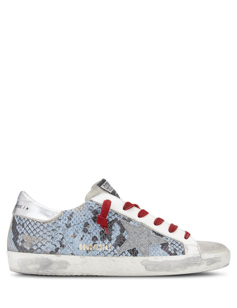 Golden Goose Deluxe Brand Women's Light Blue Leather Superstar Sneakers G36WS590.S96