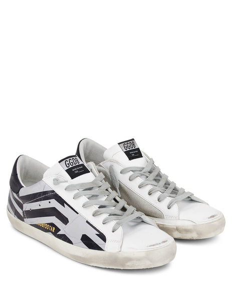 Golden Goose Men's Giulio Fashion Silver Superstar Sneakers G35MS590Q66