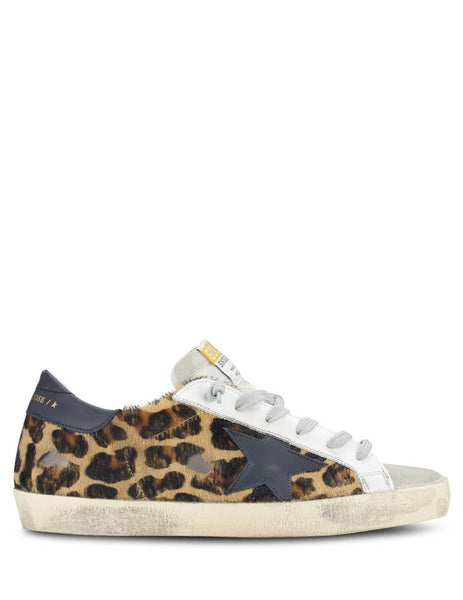 Golden Goose Women's Leopard Superstar Sneakers G36WS590.B35