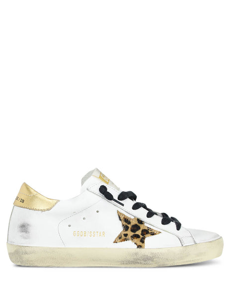 Golden Goose Deluxe Brand Women's Giulio Fashion White/Gold Superstar Sneakers G35WS590R60