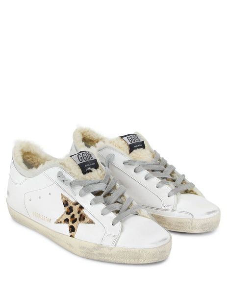 Golden Goose Deluxe Brand Women's Giulio Fashion White/Gold Superstar Sneakers G35WS590R73