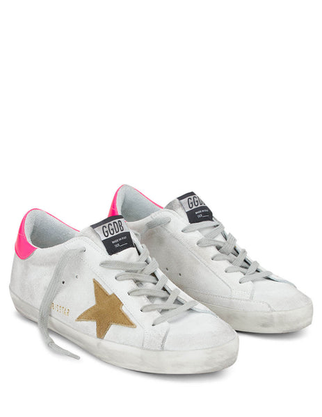 Golden Goose Women's White/Pink Superstar Sneakers G36WS590.S81
