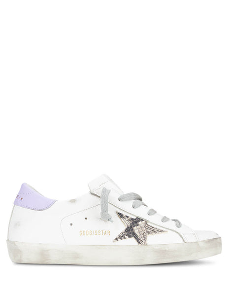 Golden Goose Women's White/Lilac Superstar Sneakers G36WS590.T11