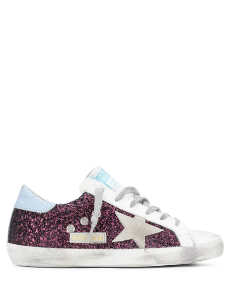 Golden Goose Women's Wine Superstar Sneakers G36WS590.S99