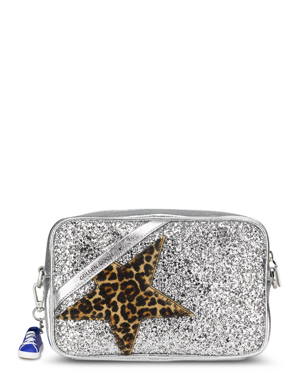 Golden Goose Glitter and Leopard Print Star Bag GWA00101.A000183.80742
