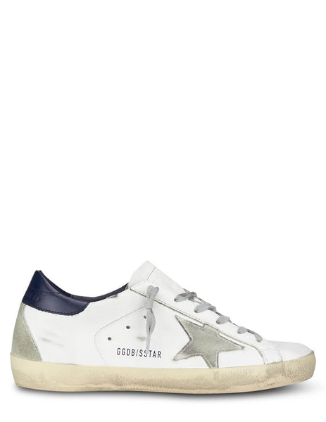 Golden Goose White/Ice/Blue Super-Star Sneakers GWF00102.F000311.10270