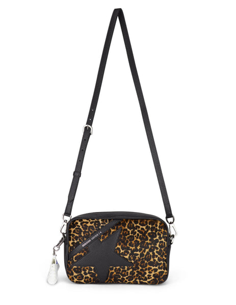 Golden Goose Women's Black Leopard Print Star Bag GWA00101.A000119.80434