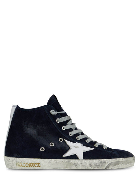 Men's Golden Goose Francy Sneakers in Night Blue/White - GMF00113F00032250517
