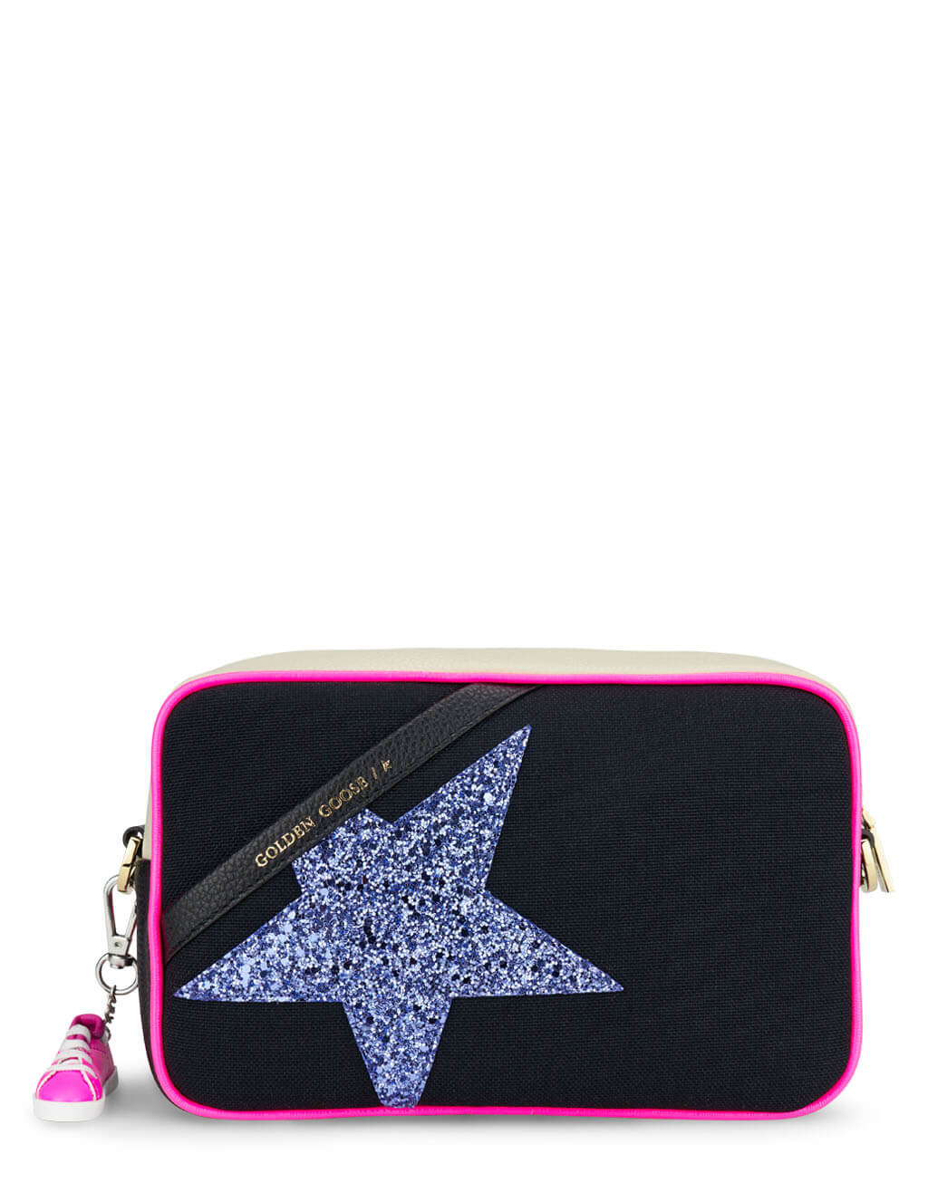 Women's Golden Goose Star Bag in Black/Purple/Fuchsia/White - GWA00101.A000187.90241