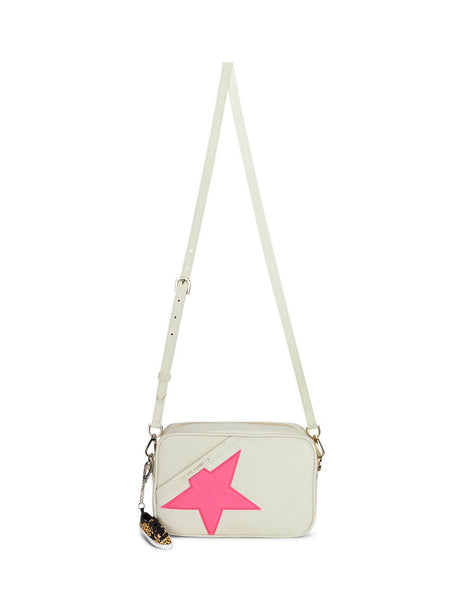 Golden Goose Deluxe Brand Women's Gulio Fashion White Star Bag G36WA881.A7