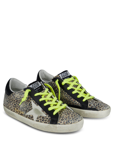 Women's Leopard Print Golden Goose Superstar Sneakers GWF00101F00016180189