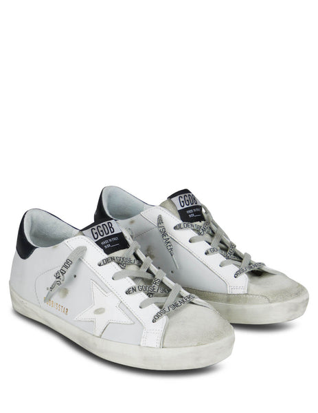 Women's Ice/White/Black Golden Goose Superstar Sneakers GWF00101F00010160248