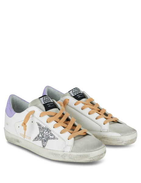 Women's White, Lilac and Silver Golden Goose Superstar Sneakers GWF00101F00021310242