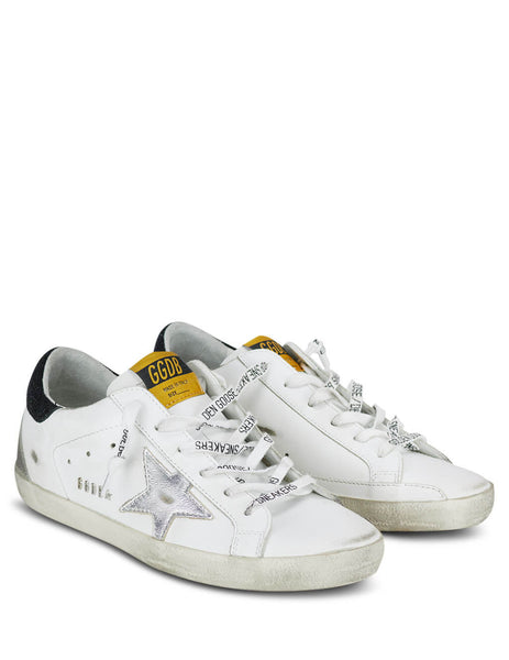 Women's White, Black and Silver Golden Goose Superstar Sneakers GWF00102F00023310250