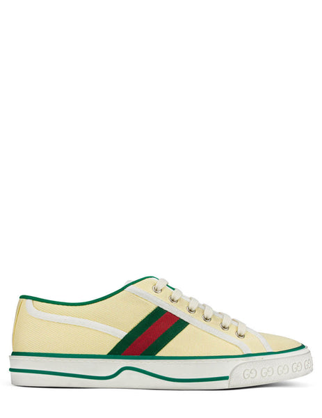 Men's Butter Gucci 1977 Tennis Sneakers 606111GZO309361