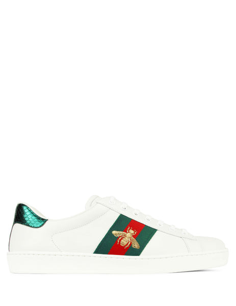 Gucci Men's Giulio Fashion White Ace Bee Embroidered Sneakers 429446 A38G0 9064