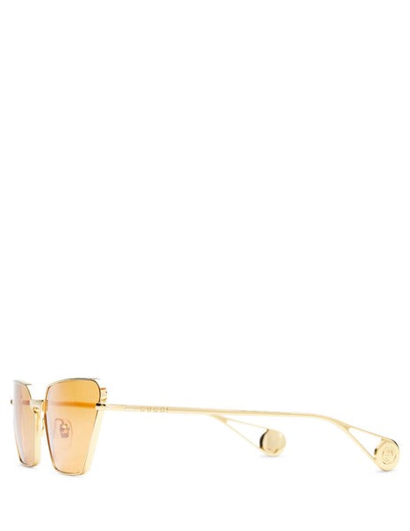 Gucci Eyewear Women's Giulio Fashion Gold Metal Sunglasses GG0538S004