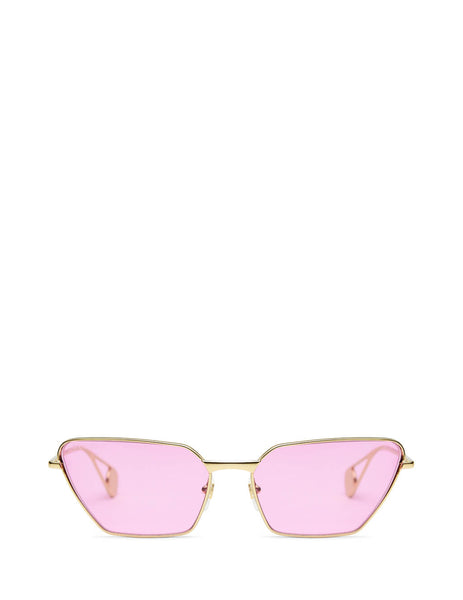 Gucci Eyewear Women's Giulio Fashion Gold/Pink Metal Sunglasses GG0538S005
