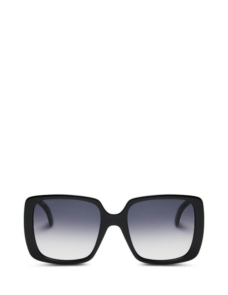 Women's Gucci Eyewear Oversized Gradient Sunglasses in Black. GG0632S-001