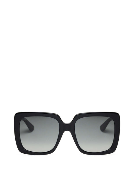 Gucci Eyewear Women's Giulio Fashion Black Rectangular Frame Sunglasses GG0418S001