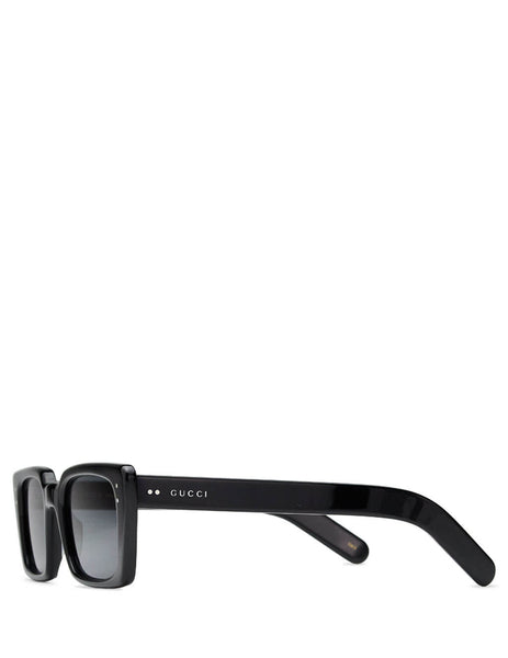 Gucci Eyewear Men's Giulio Fashion Black Rectangular Sunglasses GG0539S001