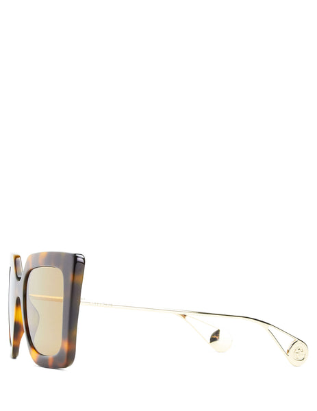 Gucci Eyewear Women's Giulio Fashion Brown Square-Frame Sunglasses GG0435S003
