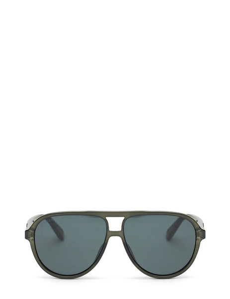 Unisex Gucci Eyewear Transparent Pilot Sunglasses in Grey - GG0935S001