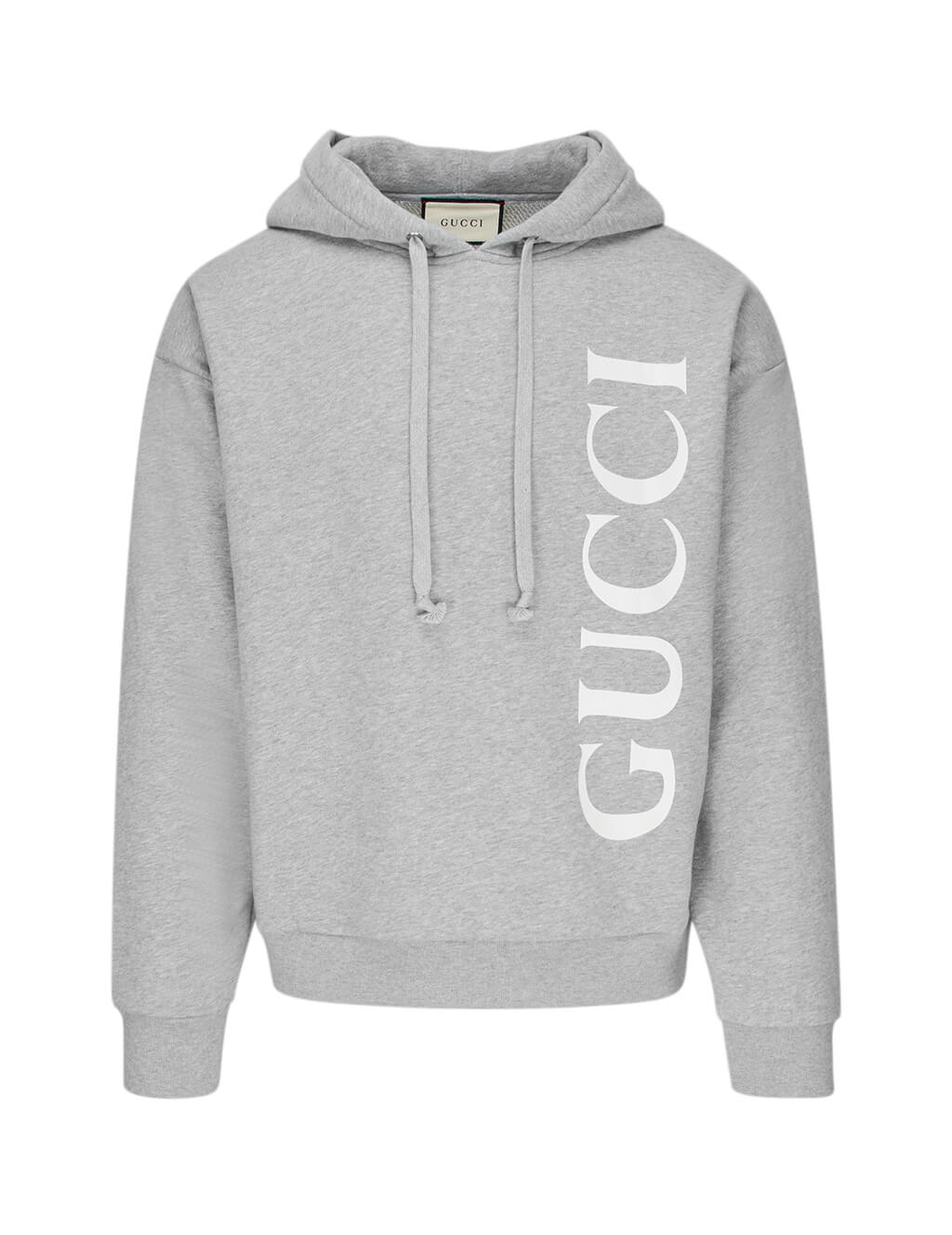 Gucci Men's Medium Grey Gucci Print Hoodie 604974xjb1d1039