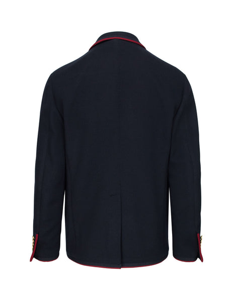 Gucci Men's Ink Blue Wool-Cotton Blend Palma Jacket 590578ZAC3R4440