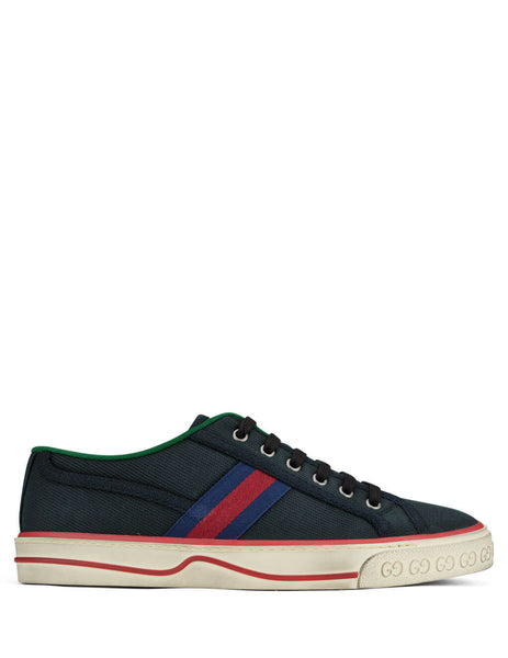 Men's Black Gucci 1977 Tennis Sneakers 606111GZO301094