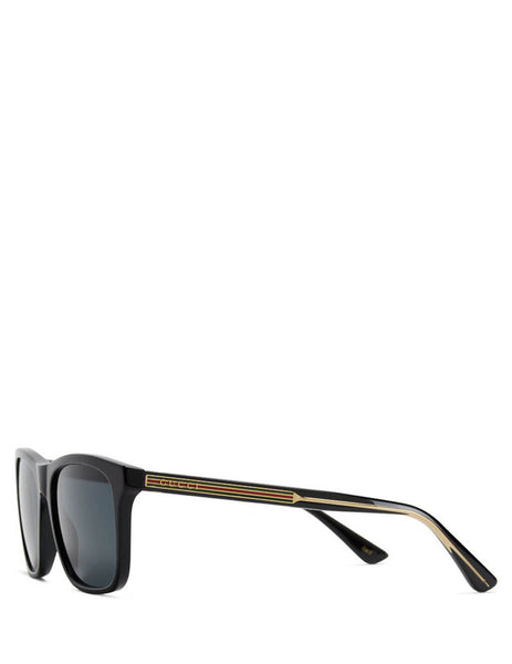 Men's Gucci Eyewear Bar Side Sunglasses in Black. GG0381S-001