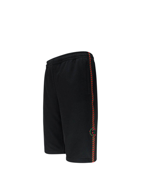 Men's Gucci Basket Mesh Shorts in Black 600215 XJB1N 1082