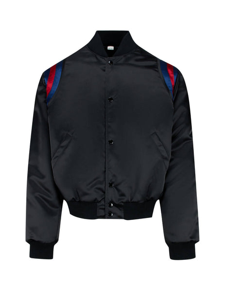 Gucci Men's Giulio Fashion Black Collegiate Logo Jacket 598706 ZAC84 1071