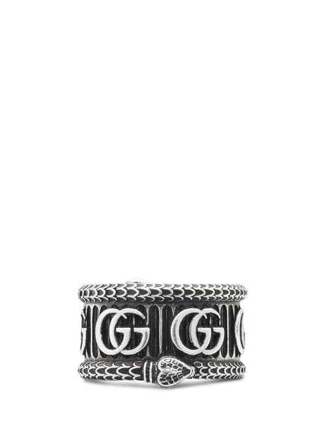 Gucci Men's Giulio Fashion Silver Double G Ring 577201