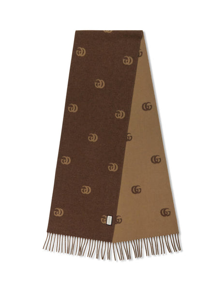 Gucci Men's Giulio Fashion Brown Double G Scarf 5736844G2009764