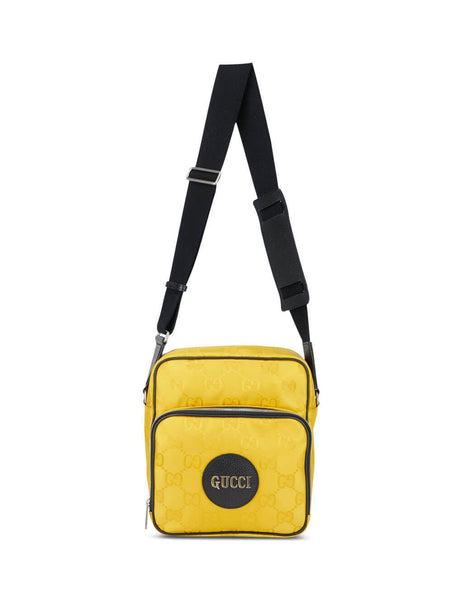 Gucci Men's Crop Yellow Flight Bag 625858 H9HBN 7673