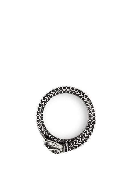 Gucci Men's Giulio Fashion Silver Garden Snake Wrap Ring 577292