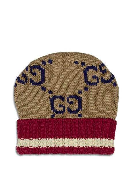 Gucci Men's Beige and Red GG Cotton Hat 5976364g1119764