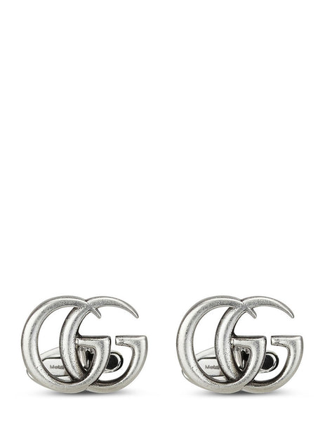 Gucci Men's Aged Silver GG Marmont Cufflinks YBE577299001