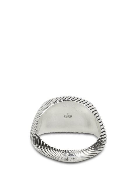 Gucci Men's Silver GG Rope Ring YBC631746001