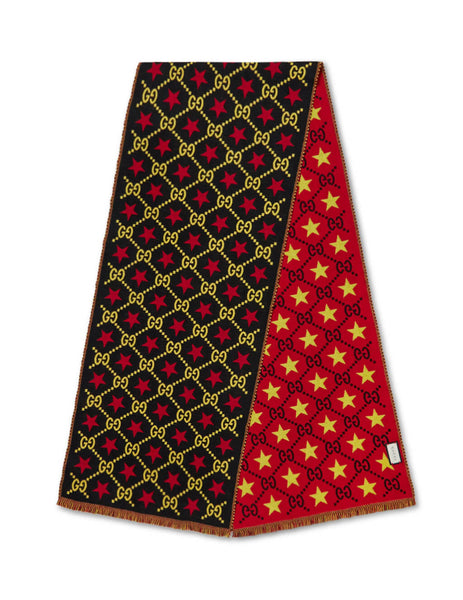Gucci Men's Giulio Fashion Black GG Star Scarf 5753864G2001075