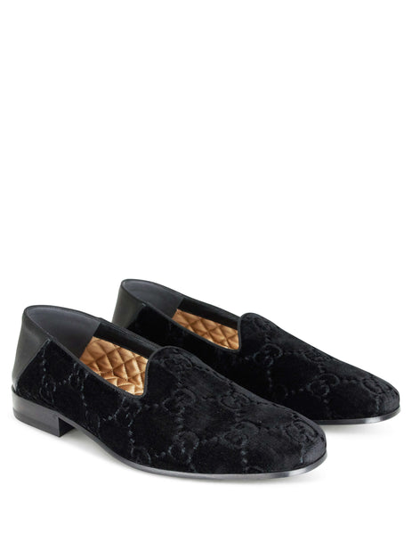 Gucci Men's GG Velvet Loafers Black 5279359JTL01000