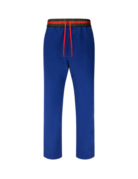 Men's Gucci Band Trousers in Blue 591052 ZADA4 4307