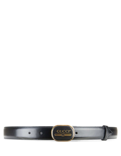 Gucci Men's Giulio Fashion Black Print Buckle Belt 5477540F7FG1055