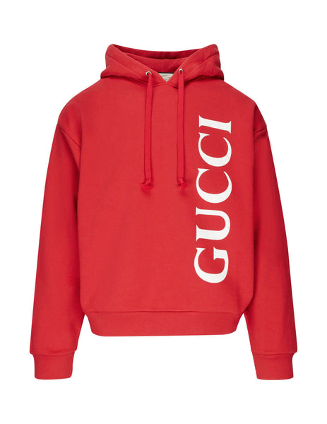 Gucci Men's Brick Red Gucci Print Hoodie 604974xjb1d6068