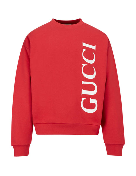 Gucci Men's Brick Red Gucci Print Sweatshirt 599345xjb1c6068