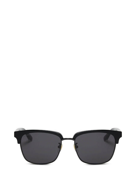 Men's Gucci Eyewear Half Frame Sunglasses in Black. GG0382S-001