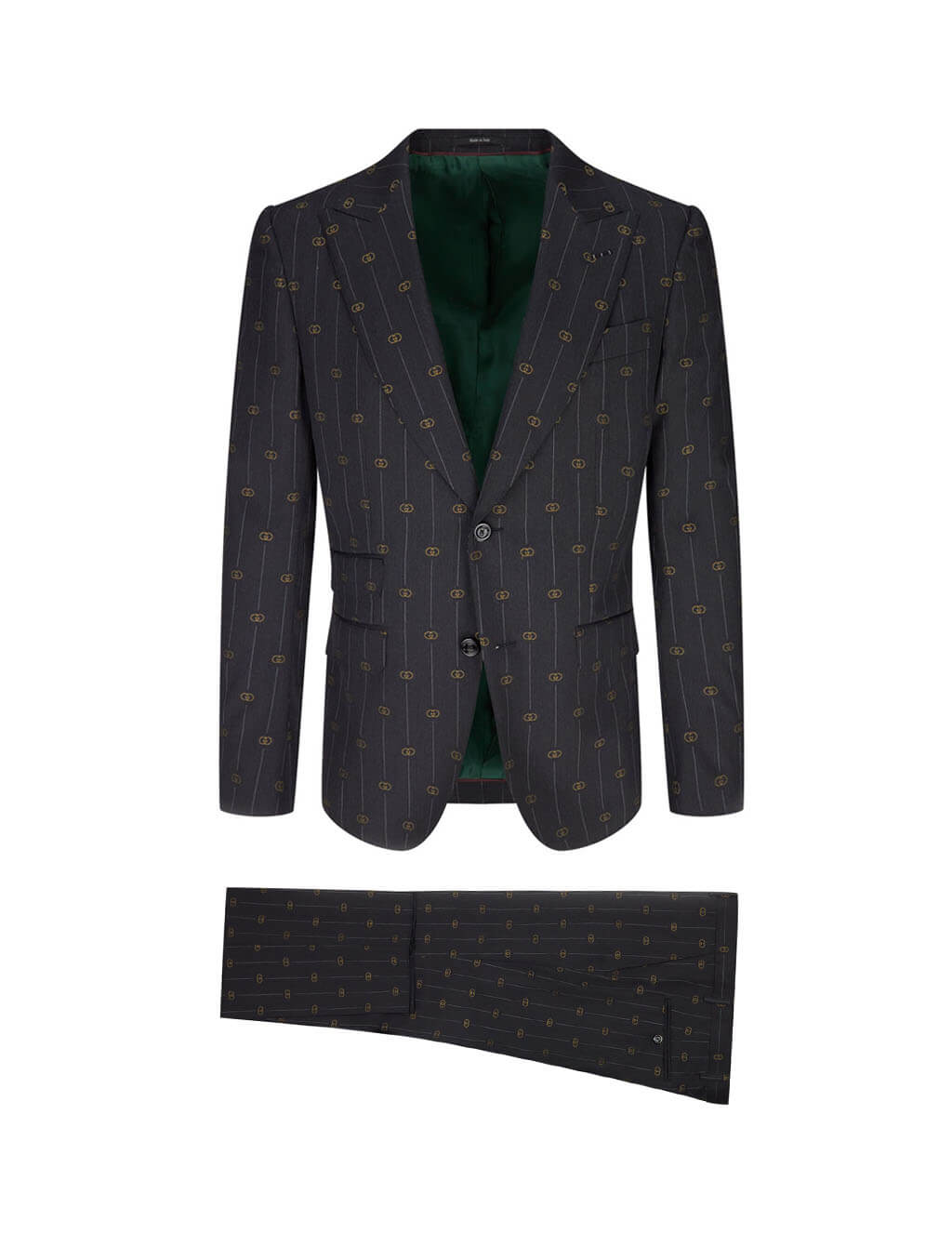 Gucci Grey Heritage Interlocking G Stripe Suit 630155 ZAD99 1012