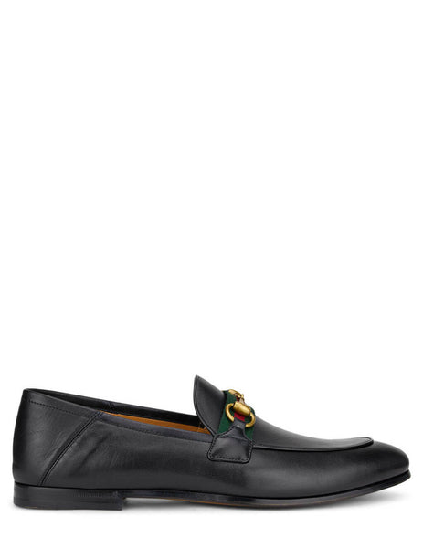 Men's Gucci Horsebit Leather Loafers in Black. 581513DLCC01078